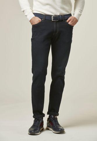 Jeans nero 5tasche impunture beige slim Angelico
