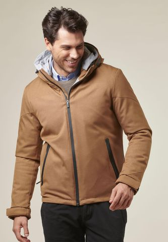 sienna hooded heavy jacket technical fabric Angelico