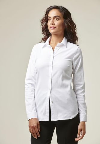 Camicia bianca operata elasticizzata pinces Angelico