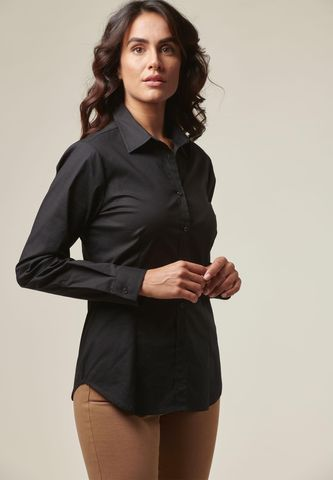 Camicia donna nera elasticizzata Angelico